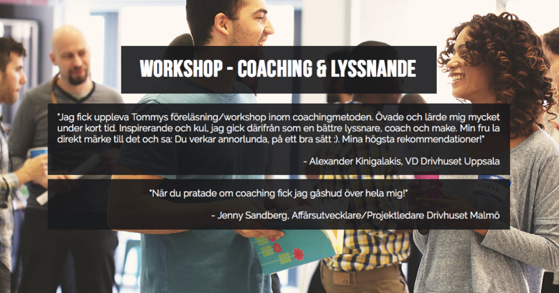 "Tommy Davidovics workshop ""Coaching & Lyssnande"""