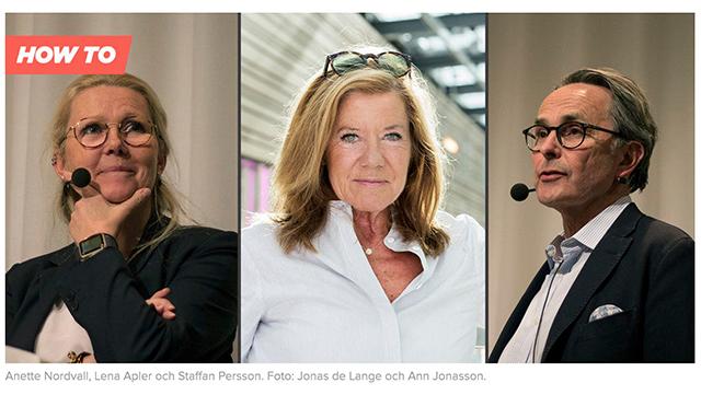 Anette Nordvall, Lena Apier och Staffan Persson.