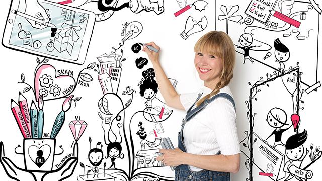 Caroline Sellstone tecknar