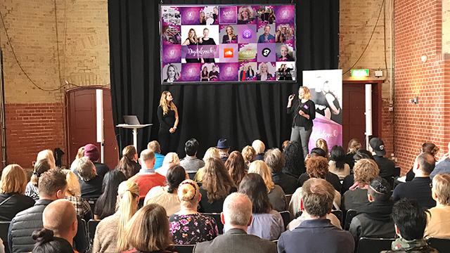Cecilia Victoria Kärrberg och Jenni Laapotti föreläser