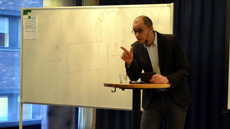 Johan Quist föreläser