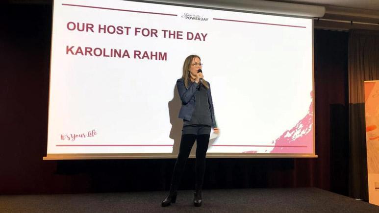 Föreläsaren Karolina Rahm föreläser