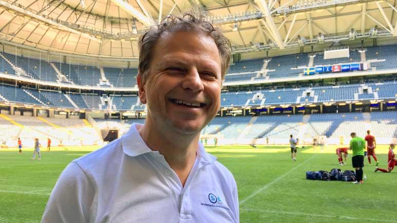 Niklas Birgetz föreläser på friends arena