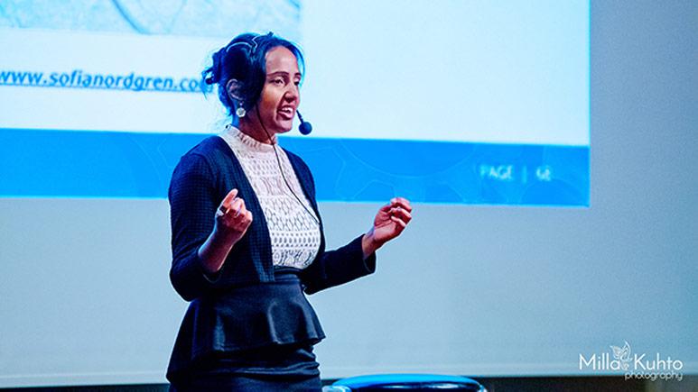 Sofia Nordgren föreläser