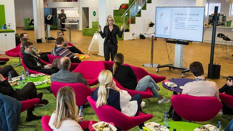 Ylva M Andersson föreläser